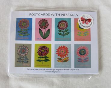 Postcards with messages
